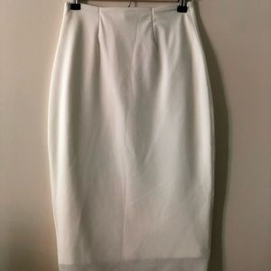 Finders Keepers White High Waisted Pencil Skirt